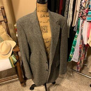 Vintage wool herringbone man's sport coat
